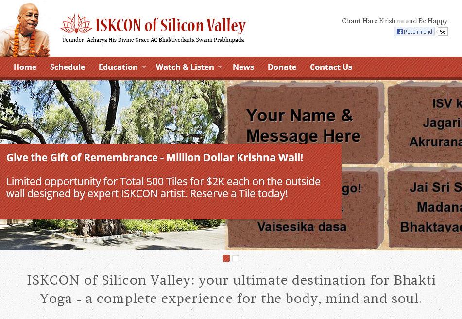 ISKCON Silicon Valley Website
