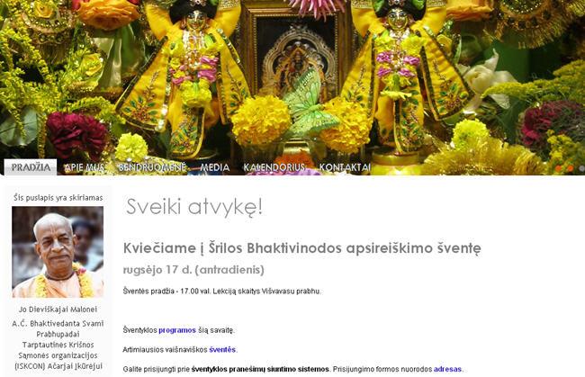ISKCON Vilnius Website
