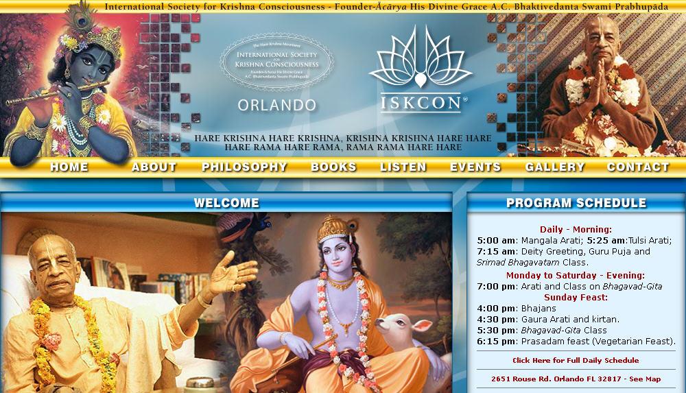 Iskcon Orland Website