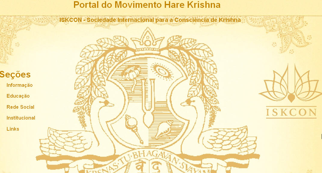 Iskcon Recife Website
