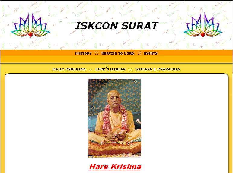 Iskcon Surat Website