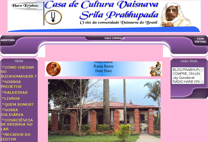 Iskcon Suzano Website
