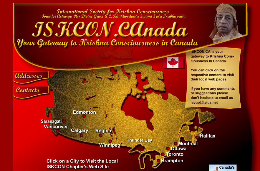 Iskcon Toronto Website