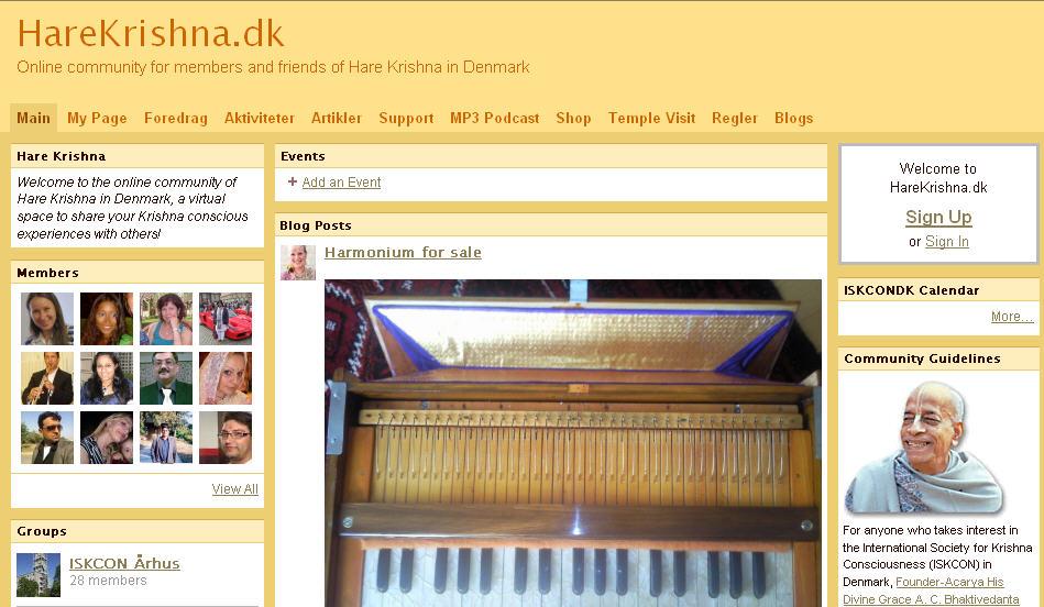 Iskcon Vanlose Website
