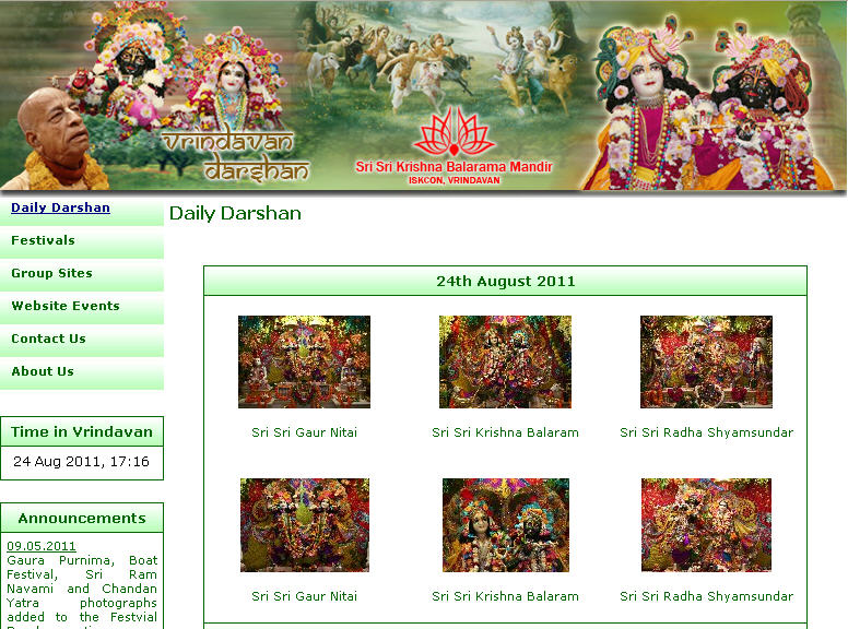 Iskcon Vrindavan Website