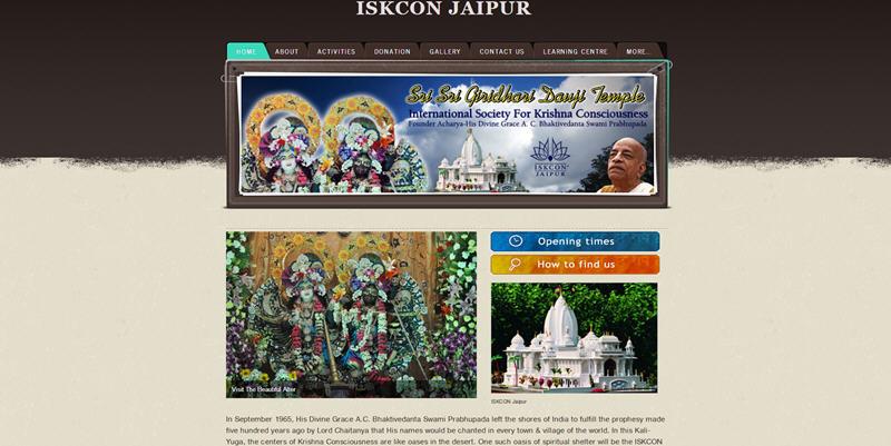 ISKCON Jaipur Website