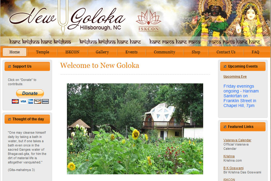 ISKCON Hillsborough Website