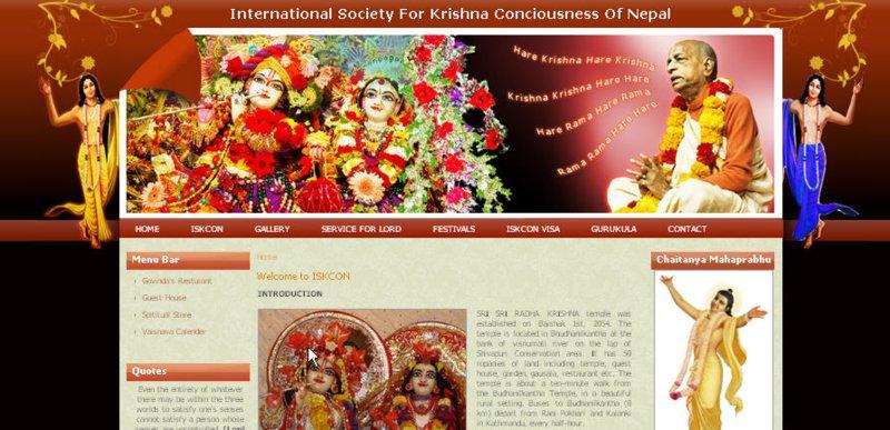 ISKCON Nepal Website