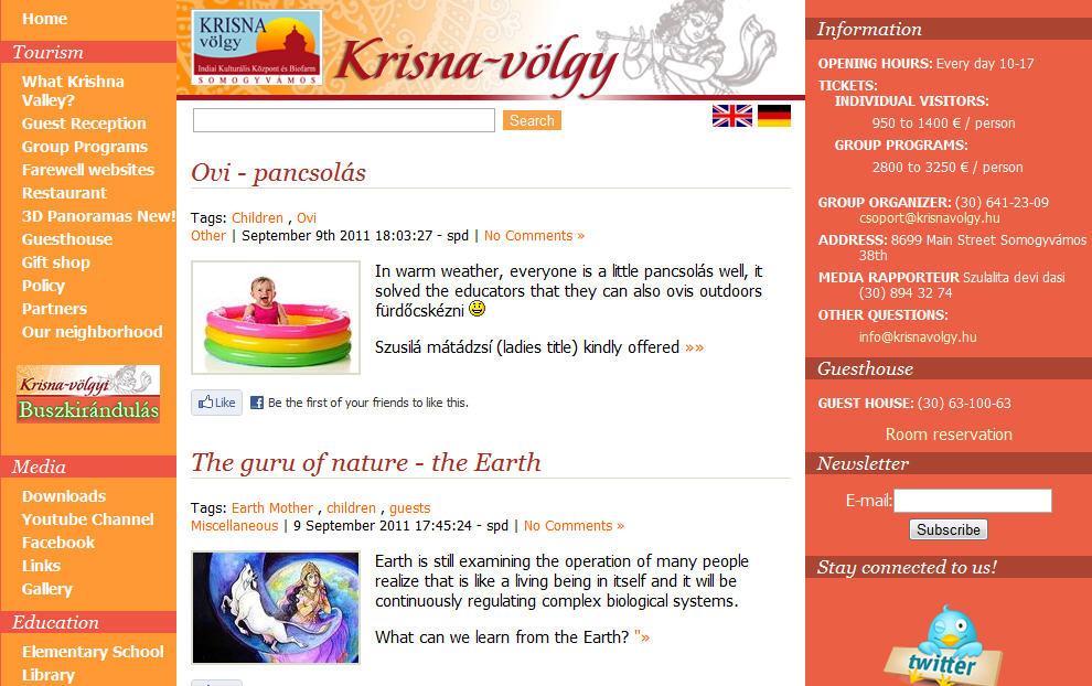 Krishna Vally Website