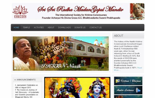 ISKCON Nasik Website