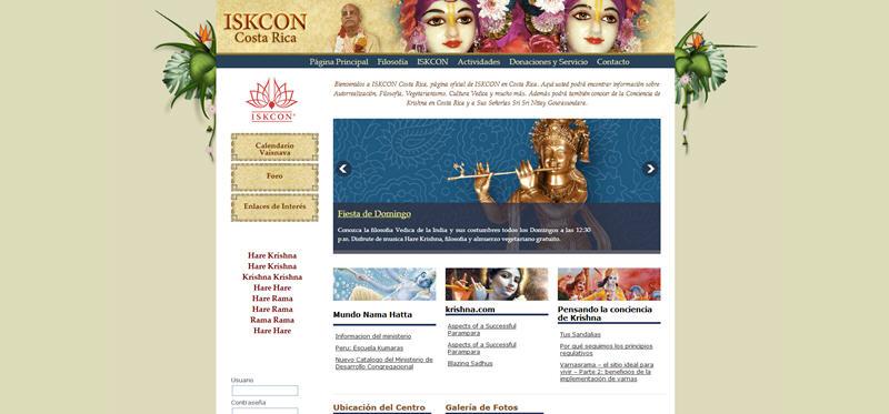 ISKCON Costa Rica Website