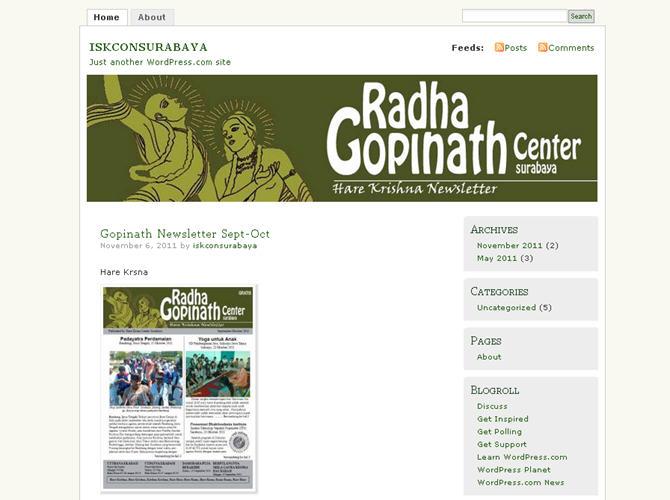 ISKCON Surabaya Website